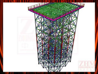 Steel structure Elevated water tank tower with FRP or metal Panel Type Tank