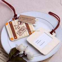 "wedding favors keepsake -- ""Let the Journey Begin"" Vintage Suitcase Luggage Tag"