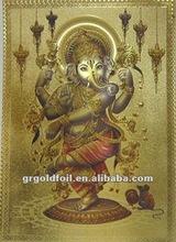 3D gold foil india god laser picture