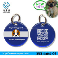 Factory wholesale stainless steel with epoxy coated pet id tags engraved qr code dog tags