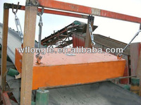 Suspension conveyor belt permanent magnet