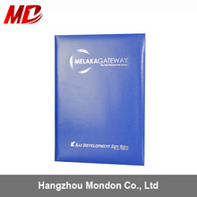 Wholesale Cheap Smooth leather Material Book Style Diploma Cover