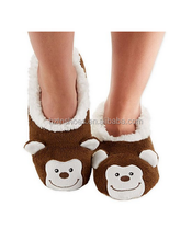 Womens snoozies! Animal Heads Super Cozy Soft Coral Fleece Lined Foot coverings