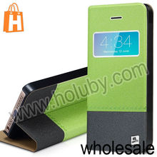 TakeFans Marshon Series Quicksand Textured Stand Leather Flip Case for iPhone 5S 5 with Caller ID Window