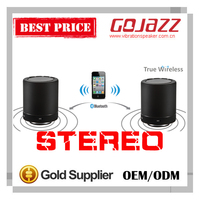ommi-directional stereo 30W true wireless portable vibration speaker with suction cup