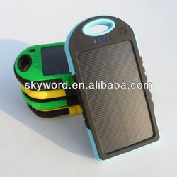 Battery Operated Cell Phone Charger ,ABS Waterproof Solar Charger