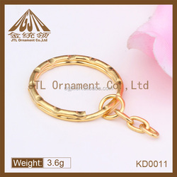 2014 fashion high quality gold plated key ring with chain