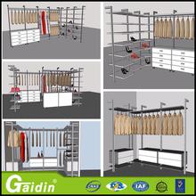 closets de madera muebles de laminado color doble dormitorio guardarropa paseo sistema de polo en el armario