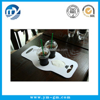 Custom Printing Disposable Paper Coffee Cup Carrier with Handle