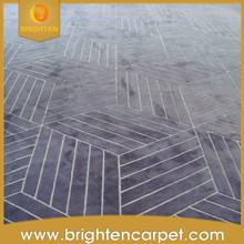 Comercial Oriental tallado de lana de encargo a mano copetuda alfombra