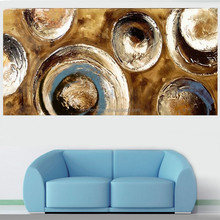 Home Decorative Hand Made Abstract Picture on Canvas