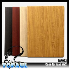 Wholesale unique design wood leather case for ipad with stand