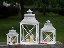 Antique Style Wood Lantern for Candle With Glass Window, Rectangle Garden Wooden Lantern & Wholesale Lantern