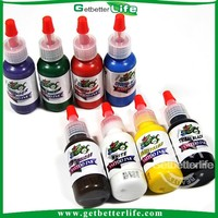 8 Color 15ML Complete Set Tattoo Ink Pigment kit cheap tattoo ink kits/color king tattoo ink/free tattoo ink