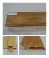 high quality wood grain flooring skirting PVC baseboard