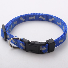 custom personable nylon printed pet collar with breakaway buckle