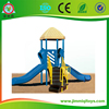 Cute style plastic outdoor playground set, plastic sliding board, outdoor playground equipment out JMQ-P081E