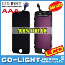 Free Ship and Hot sale item for apple iphone 5s display with high quality, OEM Service!!