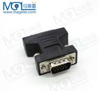 Gold plated PVC DVI 24+5 Female to VGA 15pin Male Plug Convertor DVI to VGA adapter for HDTV PC