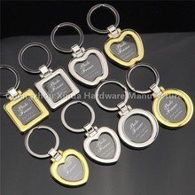 The new frame couple keychains studio photo frame key chain Lover's creative gifts