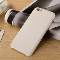 Phone Housing China Factory White Leather Hard Case For iPhone 6 PU Phone Accessory for iPhone6 PU Back Cover Case
