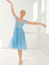 MB2015199 Adult light blue ballerina Giselle performance lyrical puffy fairy ballet long dress