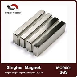 N45 50 x25.4 x12.7mm Rare Earth Neodymium cheap magnet prices nickel strong Magnets