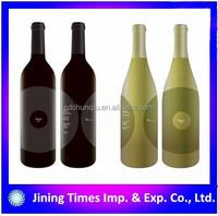 polishing cork bottle of red wine