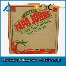 brown corrugated paper pizza box manufacturer from Dongguan China