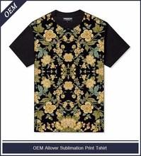 T-shirt, dye sublimation printing, uni-sex cut, regular fit