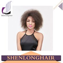 2015 Wholesale factory price Non Lace short Wig cheap 100% heat resistant fiber afro synthetic wig for south africa