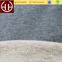 80% cotton 20% polyester brushed cotton french terry fleece fabric