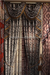 Warm brown velvet heavy curtain for bedroom