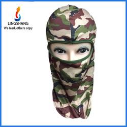 LINGSHANG full face mask neck protecting hat motorcycle biker balaclava