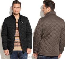 Winter men garment Stand collar Men's Quilted Field Coat jacket