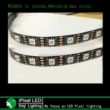 ws2821 ic strip led rgb directly connect dmx controller