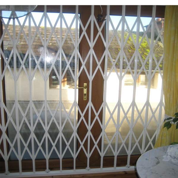 Retractable interior folding gate door security grilles