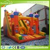 cartoon inflatable dry slide home, backyard dry slide for kids