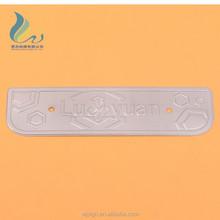 China Export Barcode Printing Custom Metal Aluminium Label With Embossed Logo
