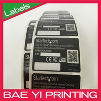 Serial number and sequential barcode electronic component label