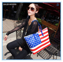New Designer American Flag Tote Bags Striped Handbags