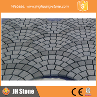 JH Fan Shaped Paving Stone Grey Granite Paving Stone for Floor Decoration