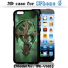 DIHAO Hologram Hard Plastic 3D Protector Case for iphone 5 6 6plus for samsung s3 s4 s5 s6 note 2 3 4