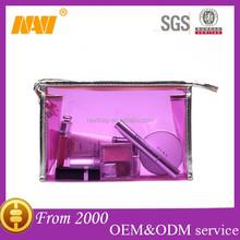 Sweet shiny waterproof travel pvc transparent cosmetics bag case makeup bag case organizer toiletry bag