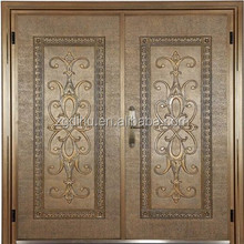 Cast aluminum door for luxury villa,senior restaurant,star hotel,private apartment and bank vault