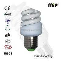 high quality mini full spiral 10W T2 E27 6500K AISHI capacitor energy saving lamp factory