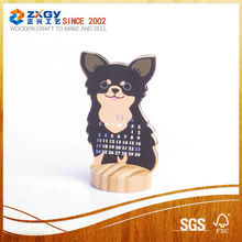 Square wooden base Standing Calendar Wooden Base;Customized Wooden Base