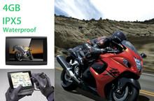 Motorcycle & Auto Racing GPS Waterproof 5 Inch Screen Motorcycle GPS Navigatior Bluetooth Handsfree Free Map Installed Altitude
