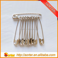 stainless steel safety pin decorative safety pin