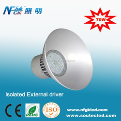 Indoor CE RoHS Lighting Well driver LED High Bay Light 70W SMD LED Highbay Light